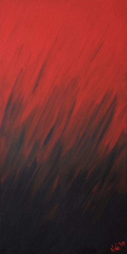 (CreativeWork) Wildfire by Nathan Dukes. arcylic-painting. Shop online at Bluethumb.