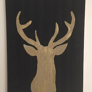 (CreativeWork) Deer Oh Deer by Thom Collective. arcylic-painting. Shop online at Bluethumb.
