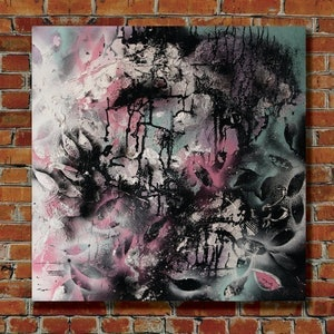 (CreativeWork) Winter Vs Spring by Milly Pearce. mixed-media. Shop online at Bluethumb.