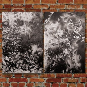 (CreativeWork) Black Night by Milly Pearce. arcylic-painting. Shop online at Bluethumb.