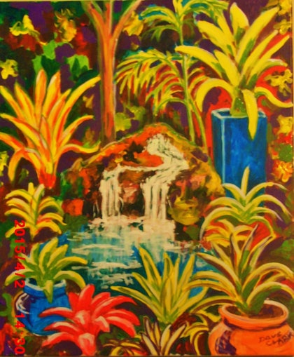 (CreativeWork) slice of paradise by Dave Clark. arcylic-painting. Shop online at Bluethumb.