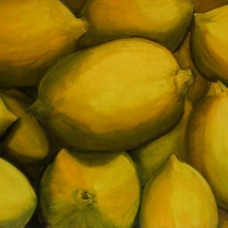 (CreativeWork) Luscious Lemons by Robyn Michael. Acrylic Paint. Shop online at Bluethumb.