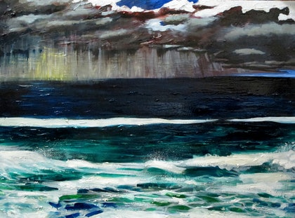 (CreativeWork) The Abyss by Andrew Mark Gould. oil-painting. Shop online at Bluethumb.