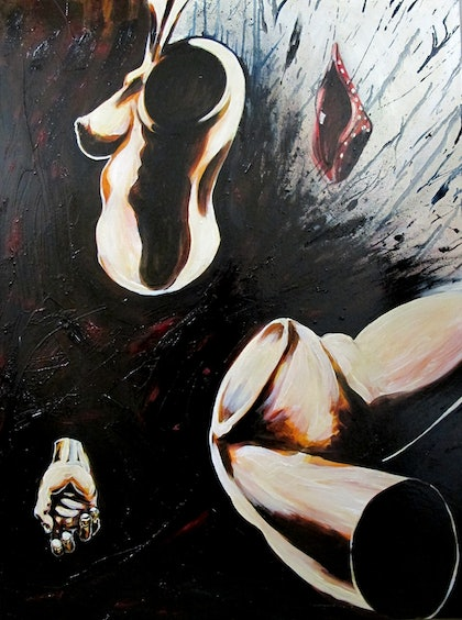 (CreativeWork) Pieces by Andrew Mark Gould. oil-painting. Shop online at Bluethumb.
