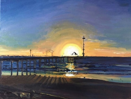 (CreativeWork) Brighton SA by Cissy Z. oil-painting. Shop online at Bluethumb.