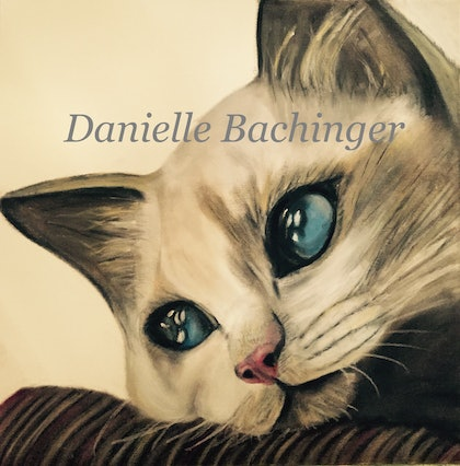 (CreativeWork) Wistful Kitten by Danielle Bachinger. oil-painting. Shop online at Bluethumb.