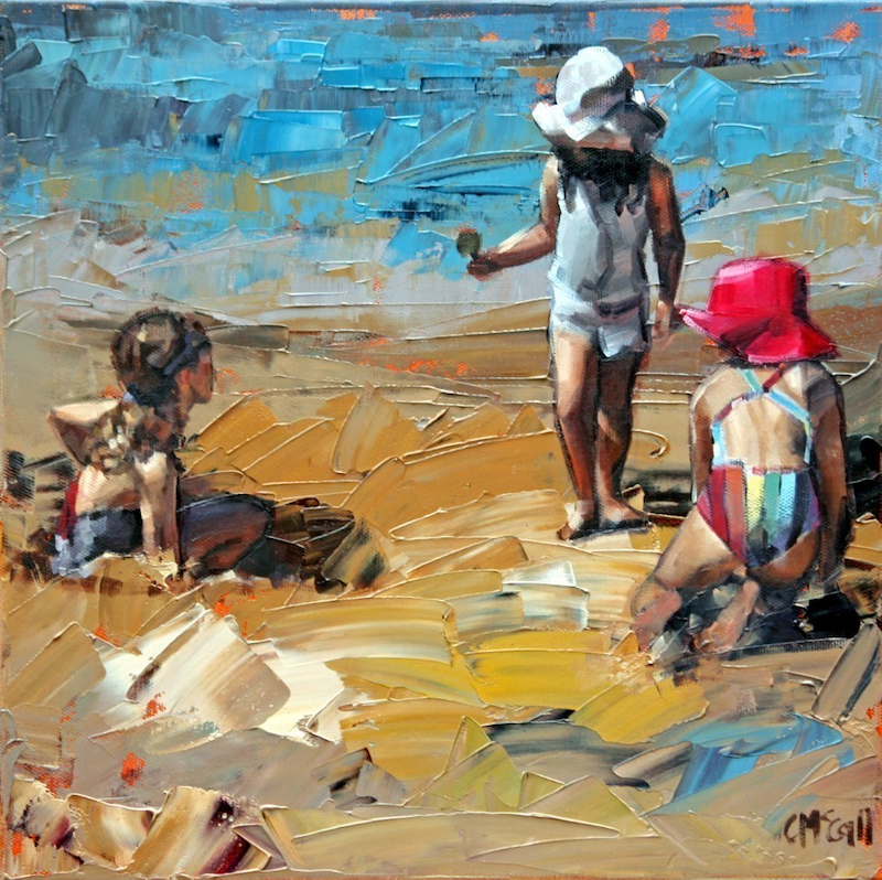 (CreativeWork) Child's Play by Claire McCall. oil-painting. Shop online at Bluethumb.