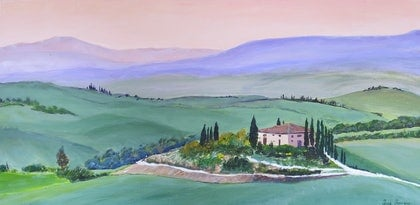 (CreativeWork) Under a Tuscan Sky by Tina Farrow. arcylic-painting. Shop online at Bluethumb.