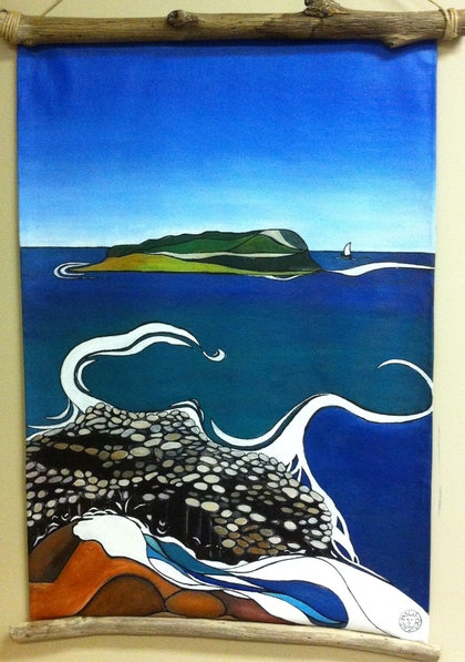 (CreativeWork) A Calm Day by Lesley Sweetman. arcylic-painting. Shop online at Bluethumb.