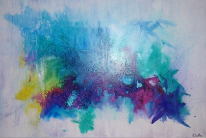(CreativeWork) untitled by Genevieve Ludlow. mixed-media. Shop online at Bluethumb.