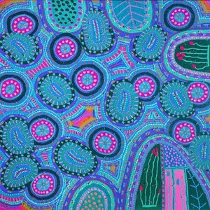 (CreativeWork) Colours are Cryptic by Helen Joynson. arcylic-painting. Shop online at Bluethumb.