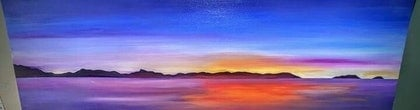 (CreativeWork) Blue Sky of Morning by Matilda Driscoll. arcylic-painting. Shop online at Bluethumb.