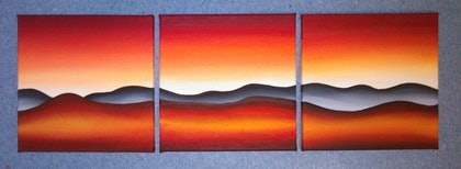 (CreativeWork) Dawn of the Dusk by Matilda Driscoll. arcylic-painting. Shop online at Bluethumb.