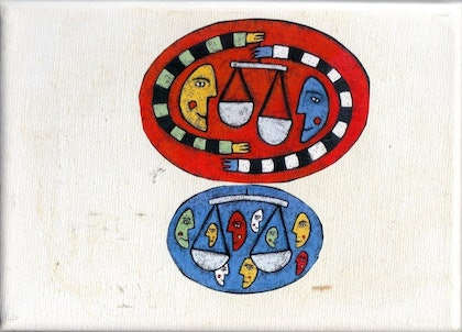 (CreativeWork) SCALES OF JUSTICE by Jason Von Abdang. other-media. Shop online at Bluethumb.