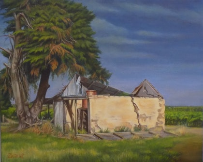 (CreativeWork) If these walls could talk by Pete Westerhoff. oil-painting. Shop online at Bluethumb.