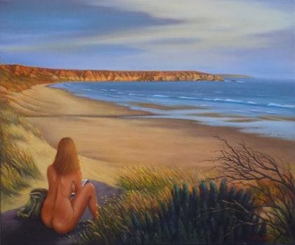 (CreativeWork) Tranquillity by Pete Westerhoff. oil-painting. Shop online at Bluethumb.