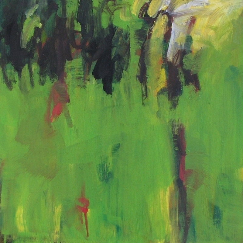(CreativeWork) Paddock near forest by Susan Lhamo. arcylic-painting. Shop online at Bluethumb.
