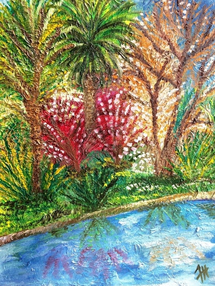 (CreativeWork) Springtime by Faiza Hassan. oil-painting. Shop online at Bluethumb.