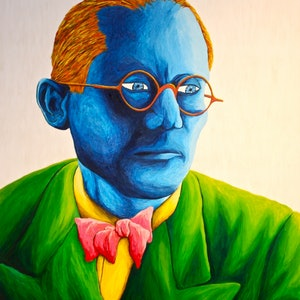 (CreativeWork) Le Corbusier by Keroshin Govender. arcylic-painting. Shop online at Bluethumb.