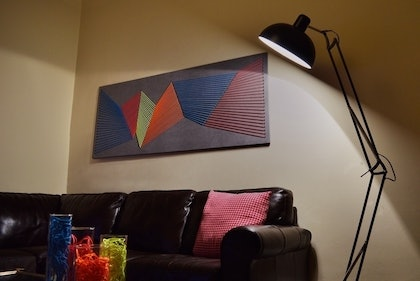 (CreativeWork) Neon Transitions by Simon Wilson. mixed-media. Shop online at Bluethumb.