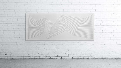 (CreativeWork) White Transitions by Simon Wilson. mixed-media. Shop online at Bluethumb.