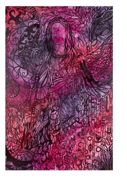(CreativeWork) Roseate by Jennis Ardern. mixed-media. Shop online at Bluethumb.