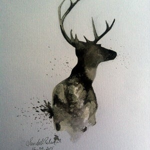 (CreativeWork) The Deer by Sandesh Palackal. arcylic-painting. Shop online at Bluethumb.