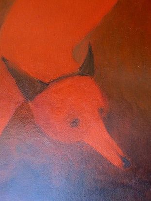 (CreativeWork) Foxes at the olgas by John Graham. Oil Paint. Shop online at Bluethumb.