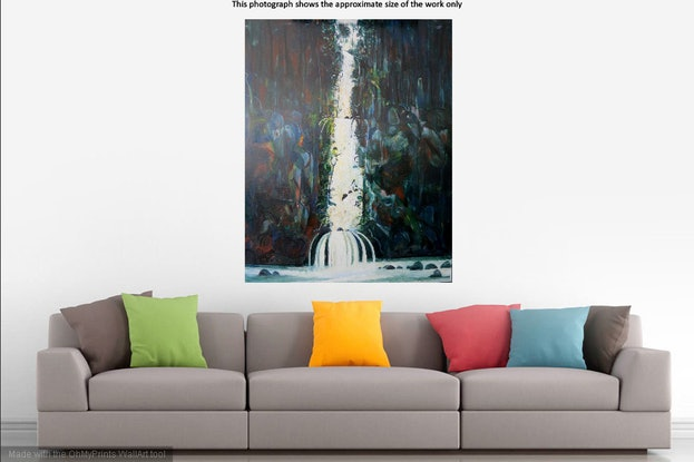 (CreativeWork) Waterfall  by John Graham. #<Filter:0x0000563b6b503b18>. Shop online at Bluethumb.