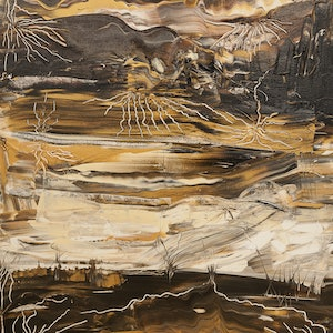 (CreativeWork) Colorado River by helene hardy. mixed-media. Shop online at Bluethumb.