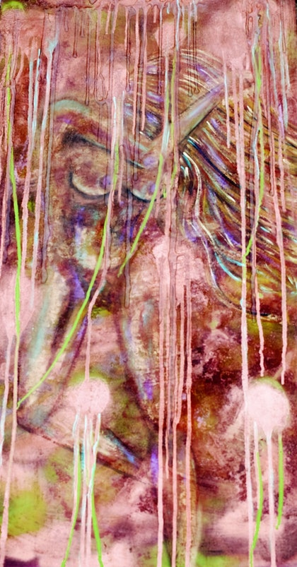 (CreativeWork) Rain Dance by tracey grivell. mixed-media. Shop online at Bluethumb.