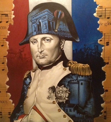 (CreativeWork) Napoleon by Leo Herreygers. arcylic-painting. Shop online at Bluethumb.
