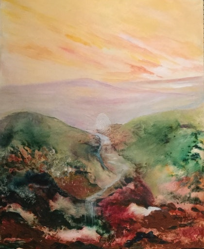 (CreativeWork) The road less travelled by Angela Halge. arcylic-painting. Shop online at Bluethumb.