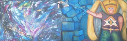 (CreativeWork) The winged Angel of Entitys  by Chris Binion. oil-painting. Shop online at Bluethumb.