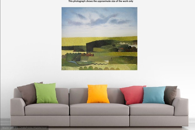 (CreativeWork) Summer (abstracted landscape)  by John Graham. Oil Paint. Shop online at Bluethumb.