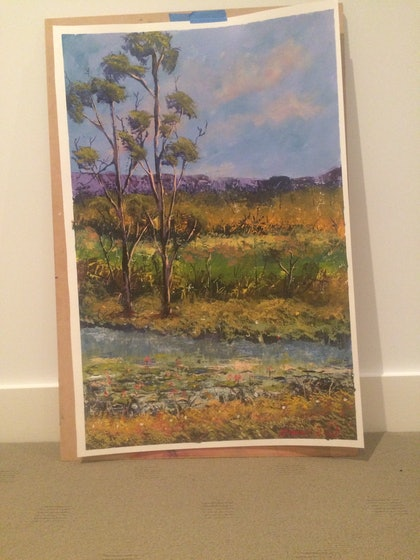 (CreativeWork) Outback by James Read. arcylic-painting. Shop online at Bluethumb.