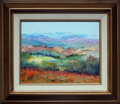 (CreativeWork) Looking West by Marie Green. Oil Paint. Shop online at Bluethumb.