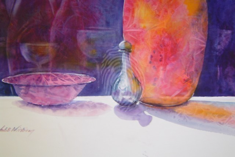 (CreativeWork) COLOURED GLASS by Anki Wickison. watercolour. Shop online at Bluethumb.