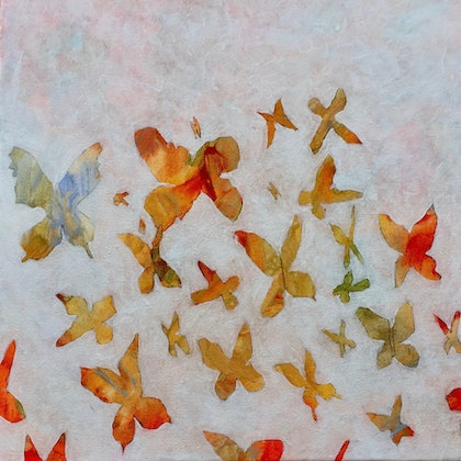 (CreativeWork) Break Free 0.2 by Peter Reddy. arcylic-painting. Shop online at Bluethumb.