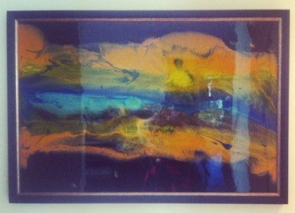 (CreativeWork) Flow by Leigh Fagerlund-Quin. resin. Shop online at Bluethumb.