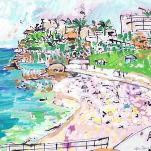 (CreativeWork) Bronte Beach by John Douglas. mixed-media. Shop online at Bluethumb.
