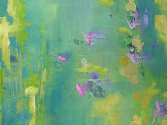 (CreativeWork) Summer lake 6 by sue bannister. Oil Paint. Shop online at Bluethumb.