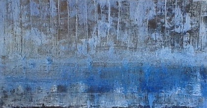 (CreativeWork) Blue Reflections by Adam Stone. arcylic-painting. Shop online at Bluethumb.