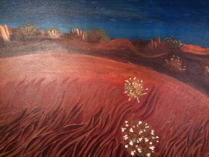 (CreativeWork) Australia Red Sand by Yan Feng (Mona) Zhang. mixed-media. Shop online at Bluethumb.