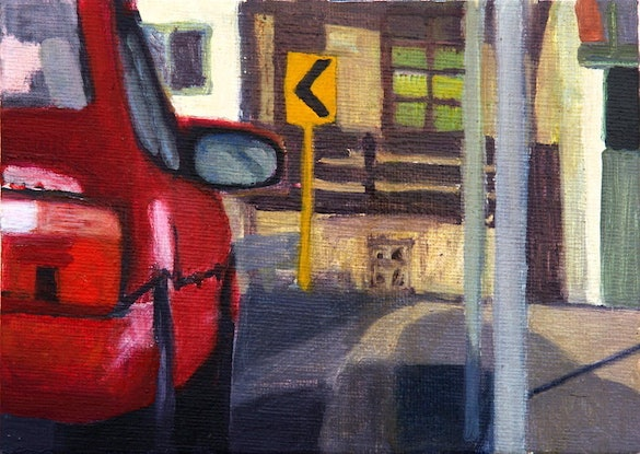 (CreativeWork) Street-scapes-Glebe 13 - Marlborough St by Ishbel Morag Miller. Oil Paint. Shop online at Bluethumb.