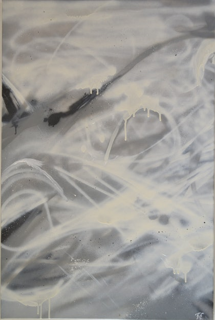 (CreativeWork) Marble Space ed. 1 of 2 by Timothy Chiarentin. arcylic-painting. Shop online at Bluethumb.