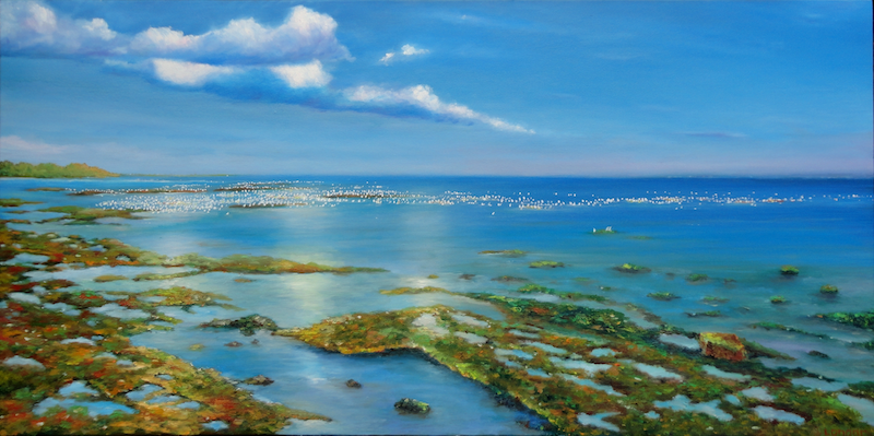 (CreativeWork) Ricketts Point by Sergei Londar. oil-painting. Shop online at Bluethumb.