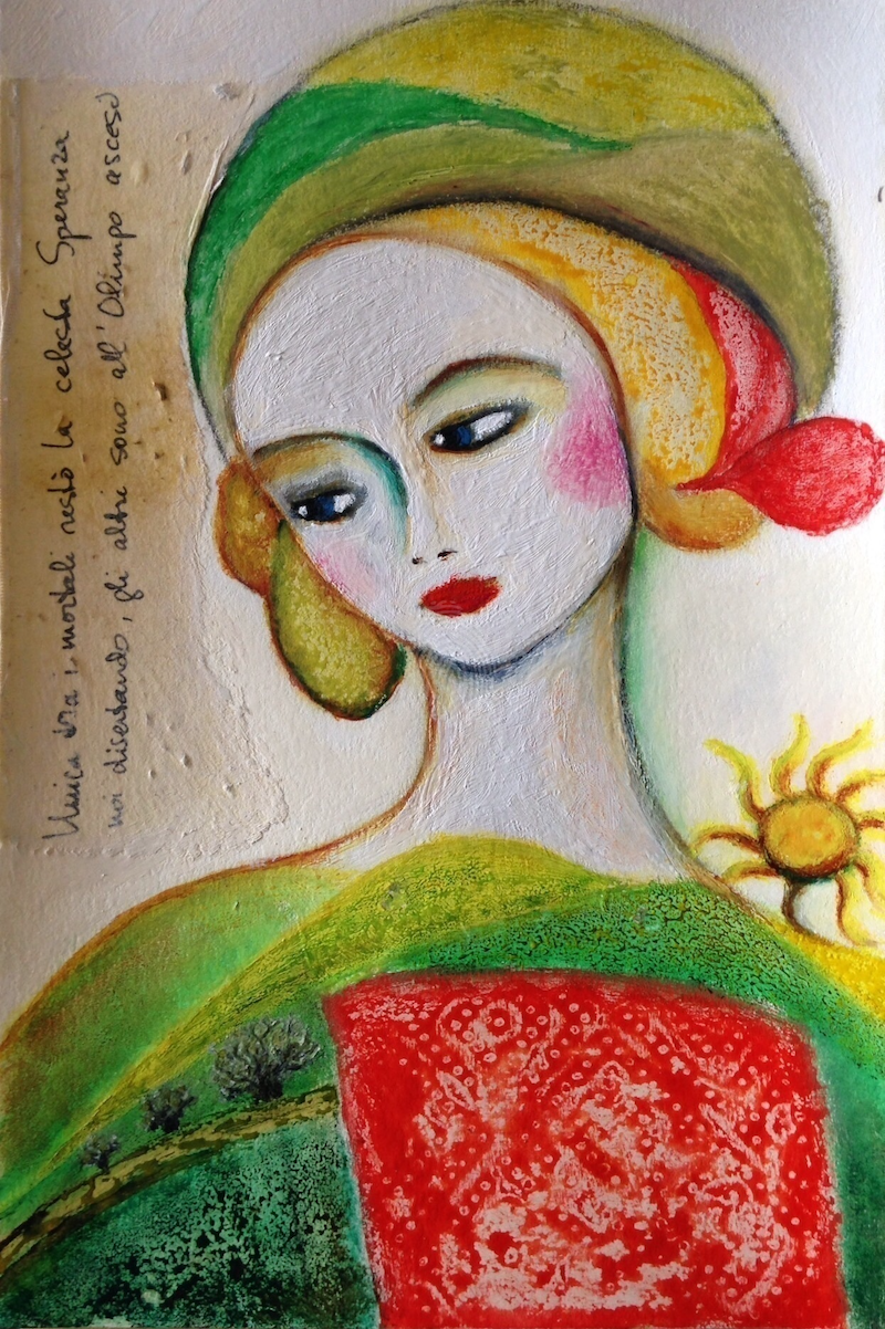 (CreativeWork) La Divinita Terrena by Marijke Lambregtse. mixed-media. Shop online at Bluethumb.