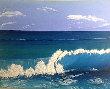(CreativeWork) The Wave by Dinesha Costa. arcylic-painting. Shop online at Bluethumb.