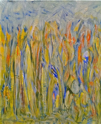 (CreativeWork) She Said 2014 by Karen Moss. oil-painting. Shop online at Bluethumb.